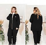 Мягкий повседневный костюм-двойка 14147-1-черный, фото 4