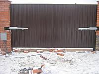 Ворота распашные (профнастил с двух сторон)