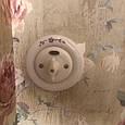 Порцеляновий вимикач поворотний 2-клавішний, для прихованого монтажу. (Ціна вказана без урахування вартості рамки), фото 2