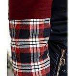 Оригинальный костюм-тройка с брюками, кофтой и жилетом 18-207-бордо-синий, фото 4