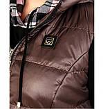 Оригинальный костюм-тройка с брюками, кофтой и жилетом 18-207-черный-бисквит, фото 3