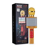 Микрофон-караоке WSTER WS-1828 беспроводной Gold
