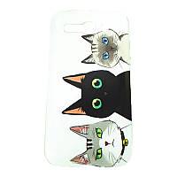 Чехол с рисунком Printed Plastic для Alcatel OneTouch 7047D POP C9 Три кота