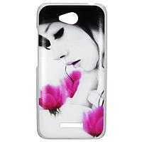 Чехол с рисунком Printed Plastic для HTC Desire 616 Девушка