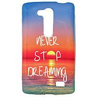 Чехол с рисунком Printed Silicone для  LG L Fino Dual D295 Never Stop Dreaming