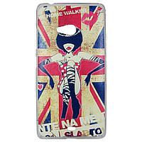 Чехол с рисунком Printed Plastic для Microsoft Lumia 540 Флаг Великобритании