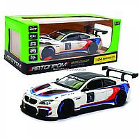 Машинка игровая автопром «BMW M6 GT3» металл, 20 см, свет, звук, двери открываются (68255B)