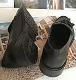 Mercy! Женские черные кожаные лоферы loafer мокасины на низком ходу мерси! Модная новинка!, фото 3
