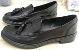 Mercy! Женские черные кожаные лоферы loafer мокасины на низком ходу мерси! Модная новинка!, фото 2