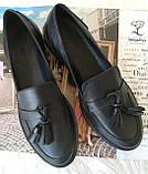 Mercy! Женские черные кожаные лоферы loafer мокасины на низком ходу мерси! Модная новинка!, фото 7