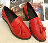 Mercy! Женские черные кожаные лоферы loafer мокасины на низком ходу мерси! Модная новинка!, фото 8