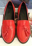 Mercy! Женские черные кожаные лоферы loafer мокасины на низком ходу мерси! Модная новинка!, фото 9