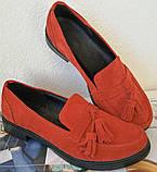Mercy! Женские черные кожаные лоферы loafer мокасины на низком ходу мерси! Модная новинка!, фото 10