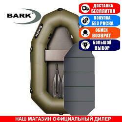 Лодка Bark B-190K. Гребная; 1,90м, 1 место, 850/950ПВХ, сплошное днище, гребки. Надувная лодка ПВХ Барк Б-190К;