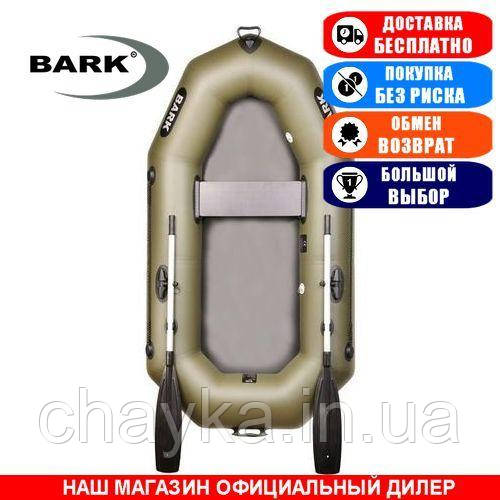 Лодка Bark B-220. Гребная; 2,20м, 1мест. 850/950ПВХ, Без настил; Надувная лодка ПВХ Барк Б-220;