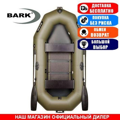 Лодка Bark B-240C. Гребная; 2,40м, 2 места, 850/950ПВХ, реечное днище. Надувная лодка ПВХ Барк Б-240С;