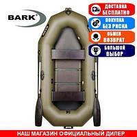 Лодка Bark B-240C. Гребная; 2,40м, 2мест. 850/950ПВХ, Реечный настил; Надувная лодка ПВХ Барк Б-240С;