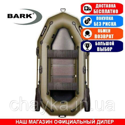 Лодка Bark B-260PD. Гребная; 2,60м, 2мест. 850/950ПВХ, Реечный настил; пр.брус. Надувная лодка ПВХ Барк
