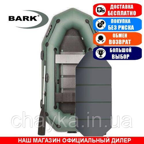 Лодка Bark B-270KPD. Гребная; 2,70м, 2 места, 850/950ПВХ, сплошное днище, прив. брус. Надувная лодка ПВХ Барк Б-270КПД;