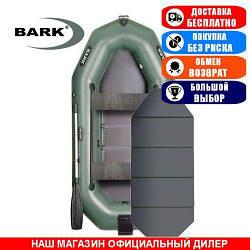 Лодка Bark B-280KND. Гребная с транцем; 2,80м, 3мест. 850/950ПВХ, Сплошной настил; Надувная лодка ПВХ Барк