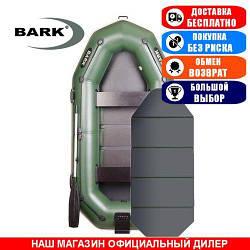 Лодка Bark B-280KNP. Гребная с транцем; 2,80м, 3мест. 850/950ПВХ, Сплошной настил; пр.брус. Надувная лодка ПВХ