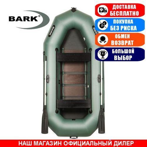 Лодка Bark B-300D. Гребная; 3,00м, 3 места, 950/950ПВХ, реечное днище. Надувная лодка ПВХ Барк Б-300Д;
