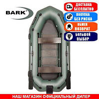 Лодка Bark B-300NPD. Гребная; 3,00м, 3 места, 950/950ПВХ, реечное днище, транец, прив. брус. Надувная лодка ПВХ Барк Б-300НПД;