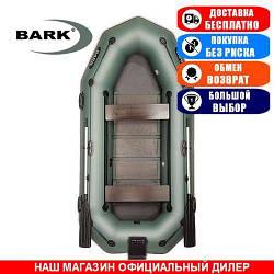 Лодка Bark B-300NPD. Гребная с транцем; 3,00м, 3мест. 950/950ПВХ, Реечный настил; пр.брус. Надувная лодка ПВХ