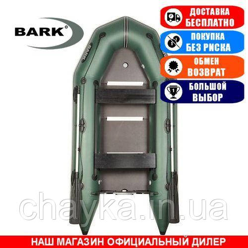 Лодка Bark BT-290SD. Моторная килевая; 2,90м, 2мест. 1100/1100ПВХ, Жесткий настил; Надувная лодка ПВХ Барк