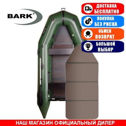 Лодка Bark BT-330K. Моторная; 3,30м, 4мест. 1100/1100ПВХ, Сплошной настил; Надувная лодка ПВХ Барк БТ-330К;