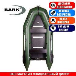 Лодка Bark BT-330S. Моторная килевая; 3,30м, 4мест. 1100/1100ПВХ, Жесткий настил; Надувная лодка ПВХ Барк
