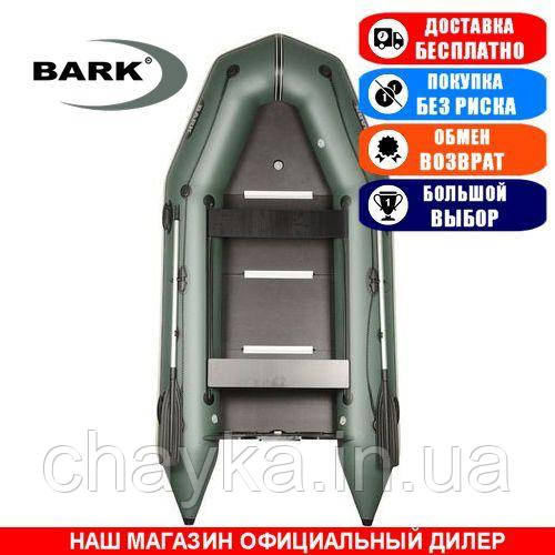 Лодка Bark BT-330SD. Моторная; 3,30м, 4 места, 1100/1100ПВХ, жесткое днище, киль. Надувная лодка ПВХ Барк БТ-330СД;