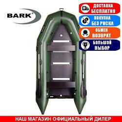 Лодка Bark BT-360S. Моторная килевая; 3,60м, 5мест. 1100/1100ПВХ, Жесткий настил; Надувная лодка ПВХ Барк