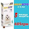 Таблетка Бравекто Braveсto від бліх та кліщів для собак від 2-4,5 кг 112,5мг 1 таб