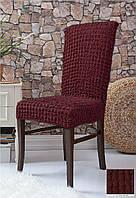 Чехлы на стулья без юбки 6 штук Бордовый