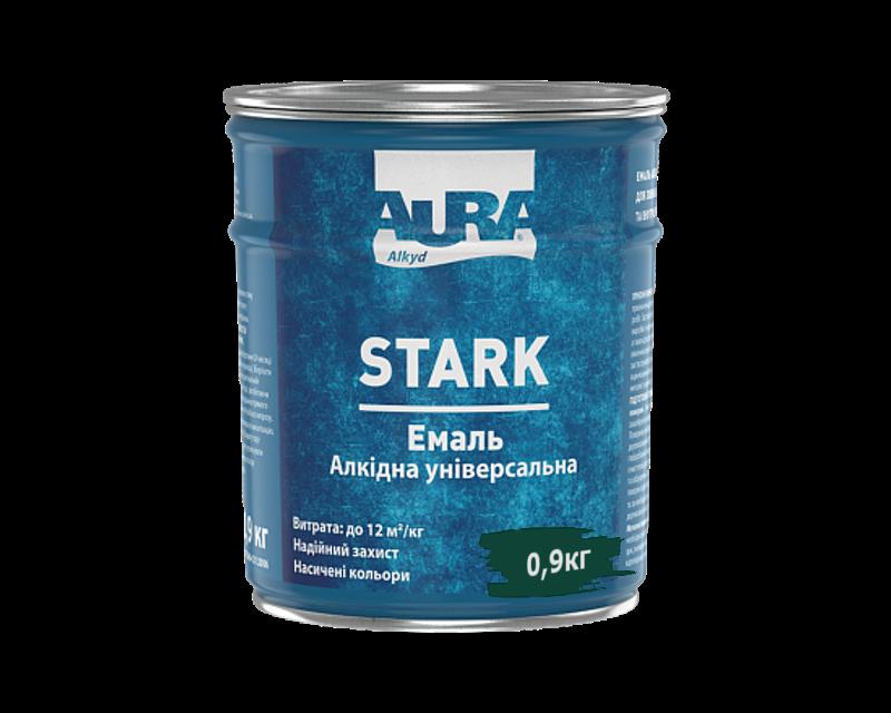 Емаль алкідна AURA STARK універсальна темно-зелена 0,9 кг