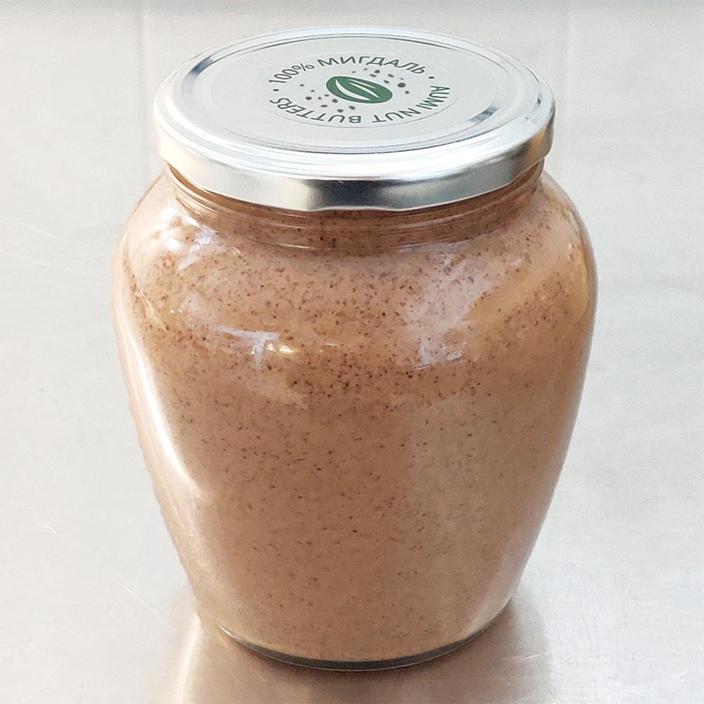 Миндальная паста КРАНЧ, 700г СТЕКЛО, 100% сладкий ароматный миндаль