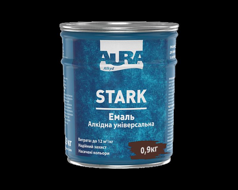 Емаль алкідна AURA STARK універсальна темно-коричнева 0,9 кг
