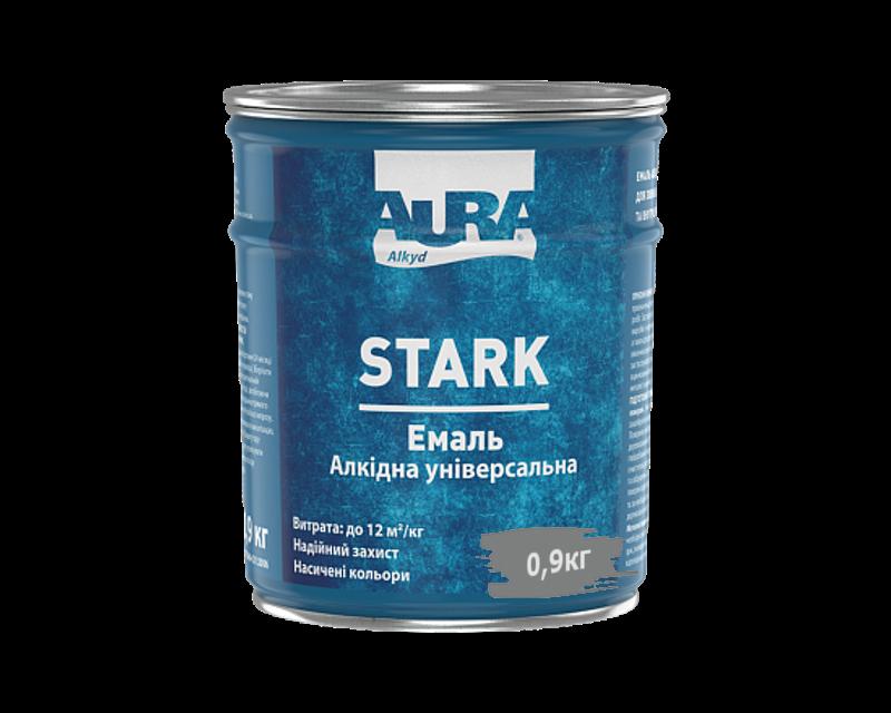 Емаль алкідна AURA STARK універсальна темно-сіра 0,9 кг
