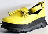 Лоферы женские туфли с ремешком на платформе от производителя модель ЛД109-1, фото 7