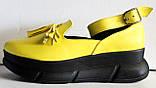 Лоферы женские туфли с ремешком на платформе от производителя модель ЛД109-1, фото 6
