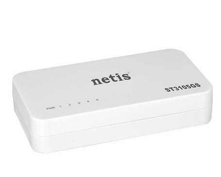 Коммутатор Netis ST3105GS (5хGE, пластик), фото 2