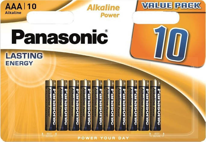 Батарейка Panasonic Alkaline Power AAA/LR03 BL 10 шт, фото 2