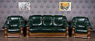 """Комплект кожаной мебели """"Гризли"""" в наличии, комплект классической мягкой мебели в коже"""