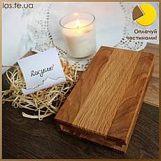 Счетница книга Чекбук деревянный Дуб Lasco 190х105х35мм