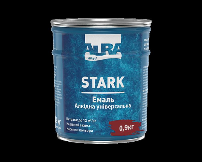 Эмаль алкидная AURA STARK универсальная темно-вишневая 0,9кг