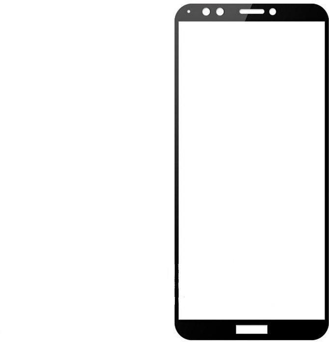Защитное стекло Florence (full glue) Huawei Y7 Prime (2018) Full Cover Black (тех.пак)