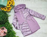 Куртка для девочки осень  весна код 8-122  размеры на рост от 116 до 140 возраст от 6 лет и старше, фото 1