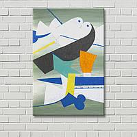 Абстрактная картина Декорация стен Настенный декор Цветная картина Геометрический рисунок Холст для живописи