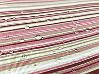 Тефлоновая ткань ДУК принт ПОЛОСКА мелкая - цвет бордо